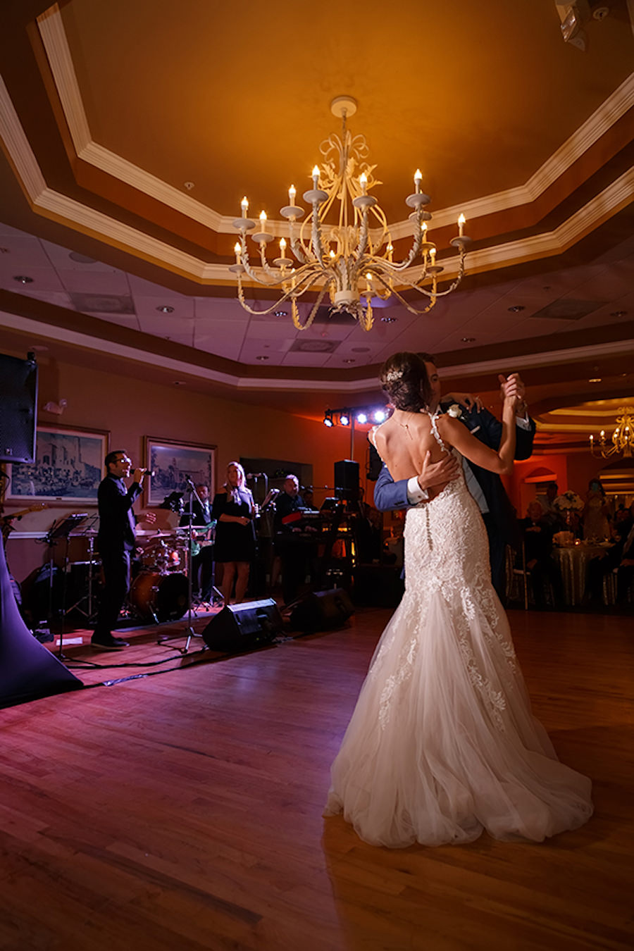 Bride and Groom First Dance Wedding Portrait | Waterfront Nautical St. Petersburg Wedding Venue Isla Del Sol Yacht & Country Club | Photographer Brian C. Idocks Photographics
