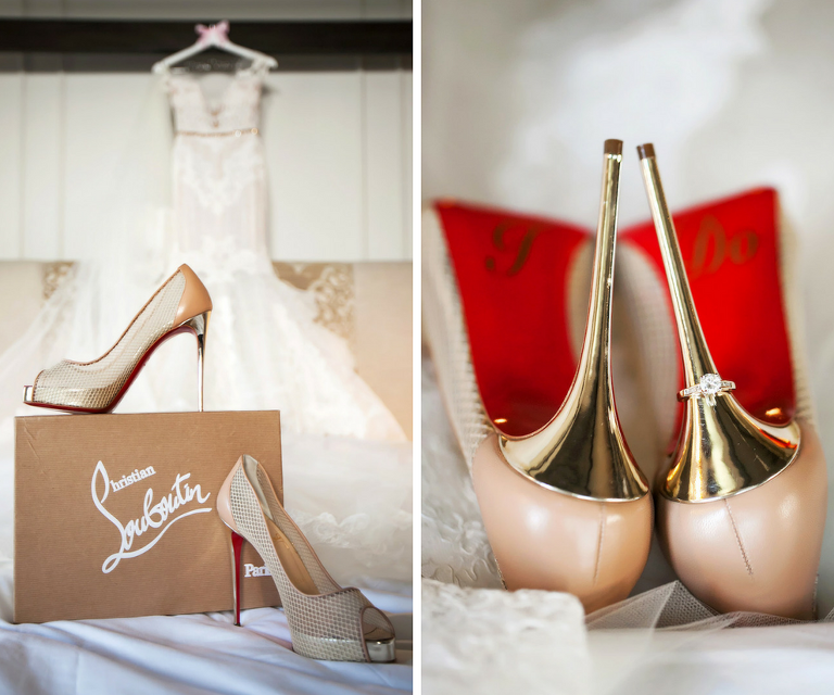 Nude Christian Louboutin Wedding Shoes
