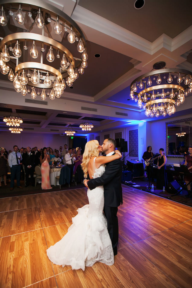 Bride and Groom First Dance   Downtown St. Pete Hotel Wedding Venue The Birchwood  St. Petersburg Wedding Photographer Limelight Photography