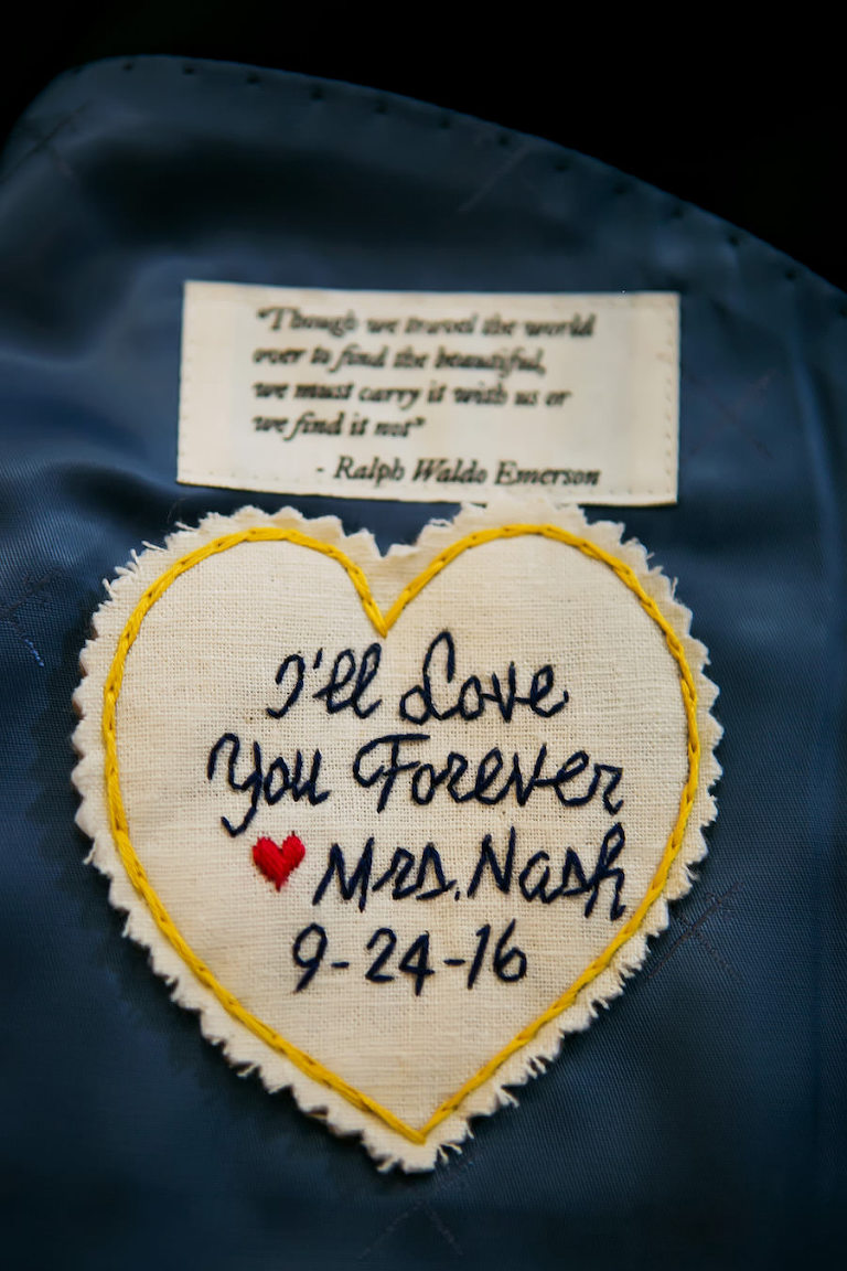 Groom's Hand Stitched Wedding Suit Patch