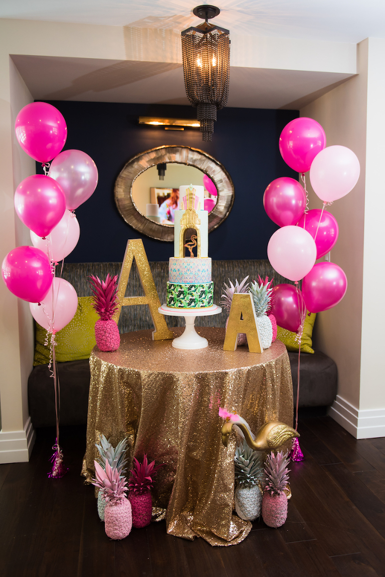Modern Tropical Pink Birthday Party | Modern Colorful Birthday Party Inspiration and Decor | Tampa Bay Portrait and Wedding Photographer Kera Photography