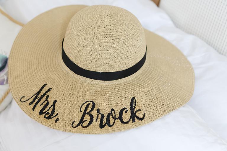 "Custom ""Mrs"" Beach Straw Hat"