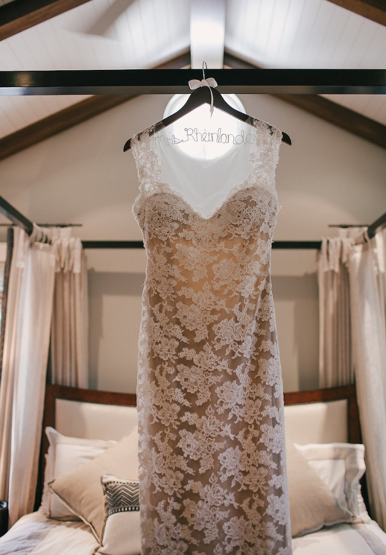 Lace Sweetheart Wedding Dress by Reem Acra from Sarasota Bridal Shop Calvet Couture Bridal (formerly Blush Bridal Sarasota)