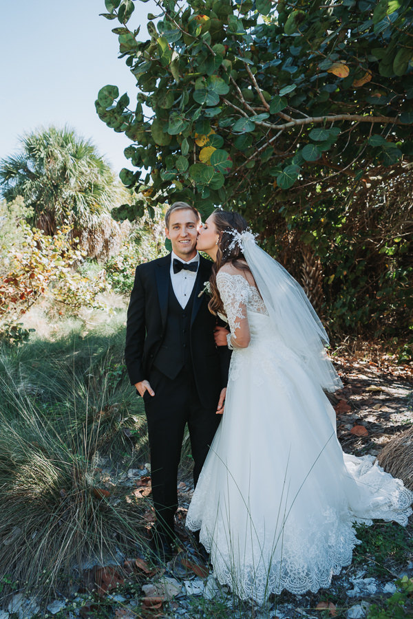 Outdoor St Pete Florida Bride and Groom Wedding Portrait | St. Pete Wedding Photographer Grind and Press Photography