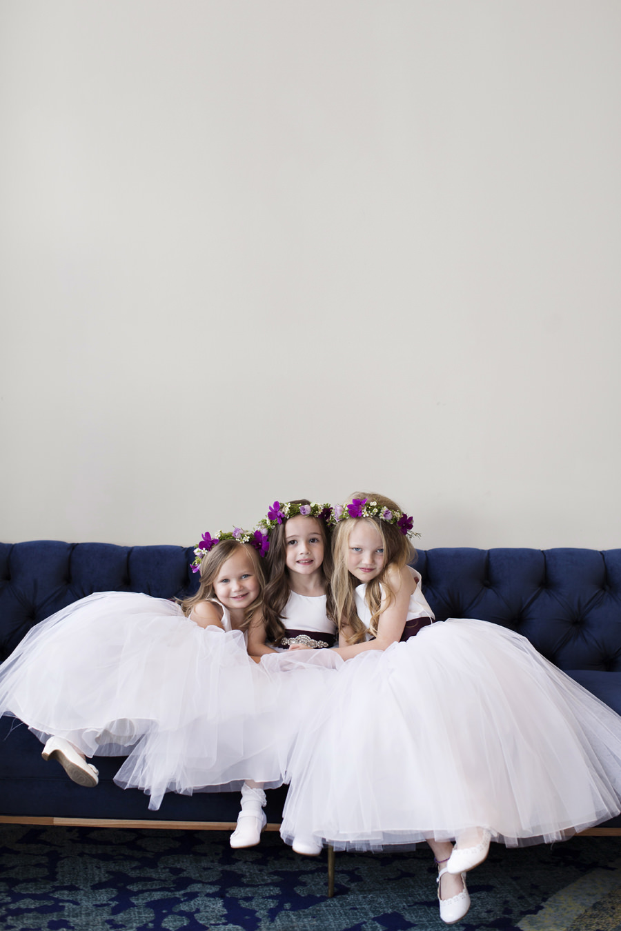 Flower Girls with Floral Crowns Portrait | Clearwater Beach Wedding Photographer Djamel Photography