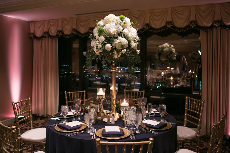 Elegant Navy Blue And Gold Downtown Tampa Wedding The Tampa Club
