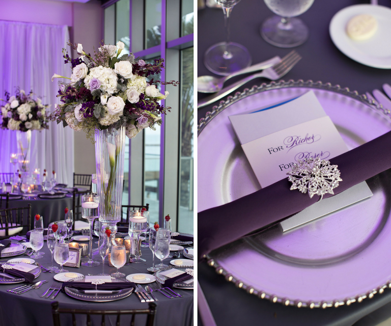 Elegant Purple And White Clearwater Beach Wedding Opal Sands