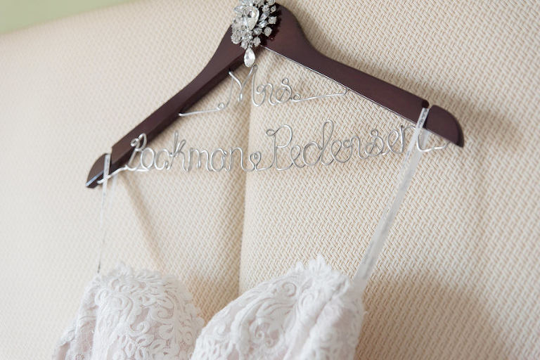 Strapless Lace Wedding Dress on Personalized Mrs. Hanger