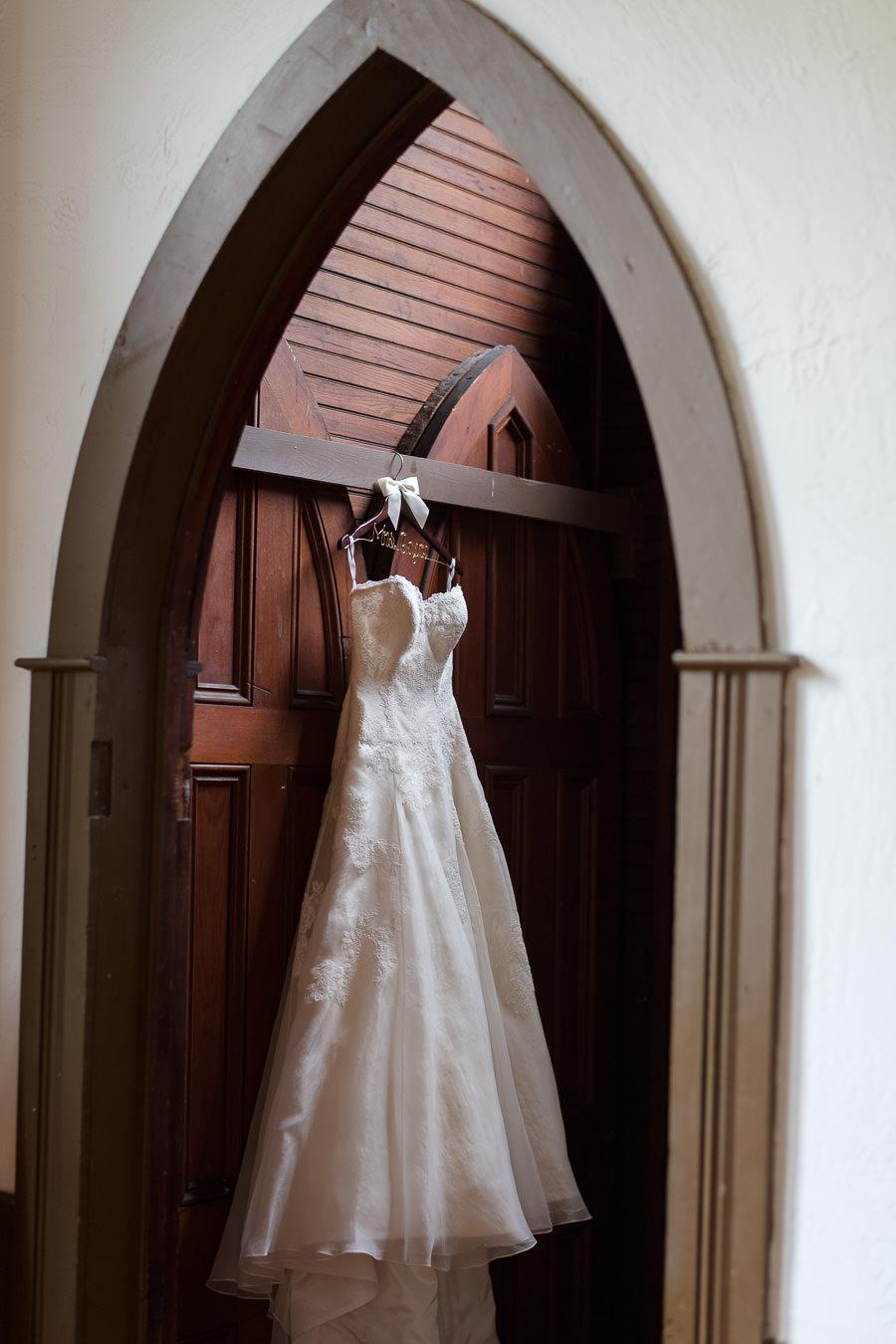 Watters Sweetheart Wedding A-Lie Dress on Hanger