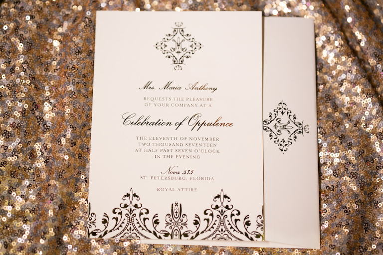 Stylish Black Design Wedding Invitation | St. Petersburg Stationery Design URBANcoast