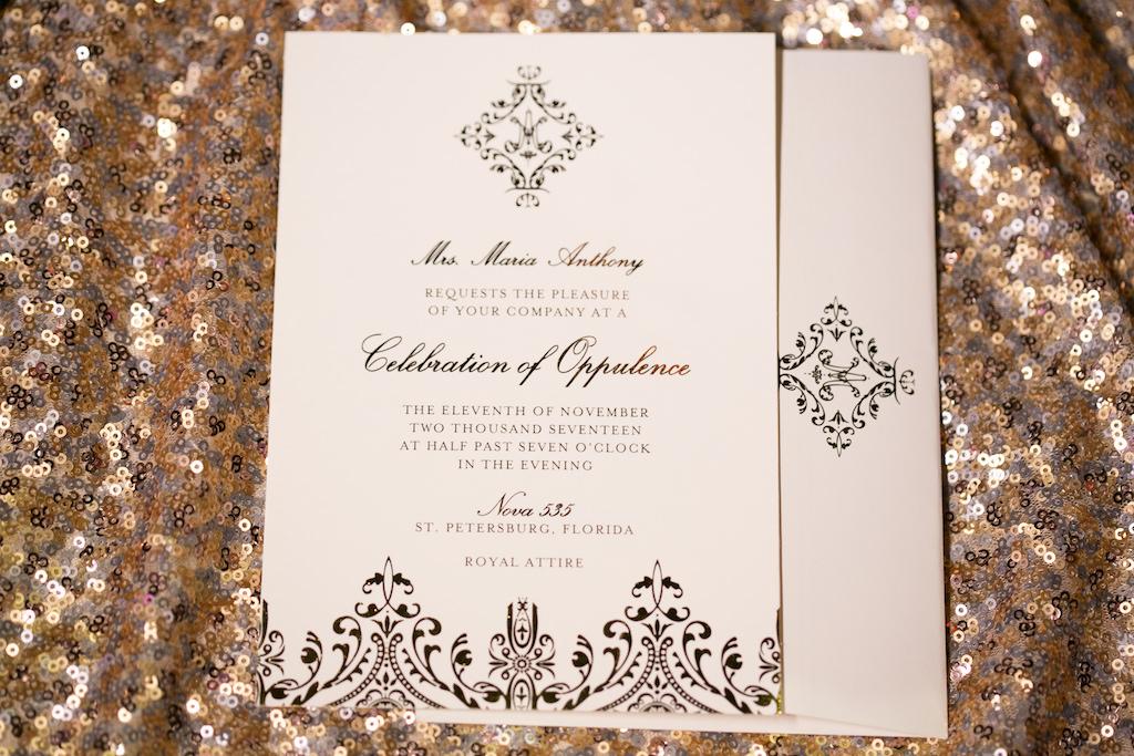Stylish Black Design Wedding Invitation   St. Petersburg Stationery Design URBANcoast