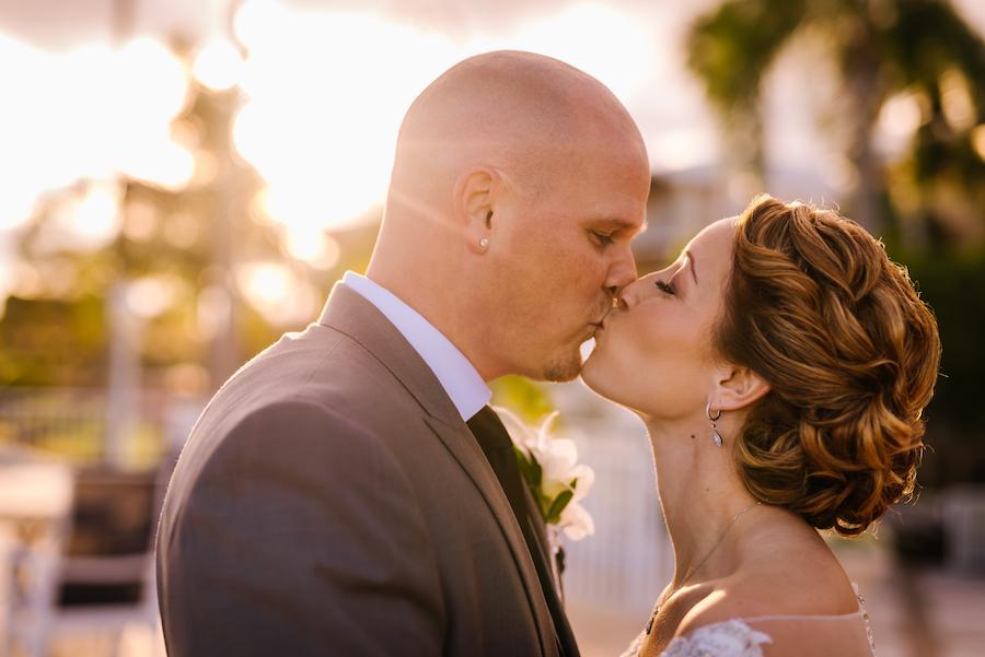 Outdoor Bride and Groom Wedding Portrait   Tampa Bay Wedding