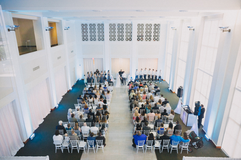 Wedding Ceremony Portrait at Downtown Tampa Wedding Venue The Vault
