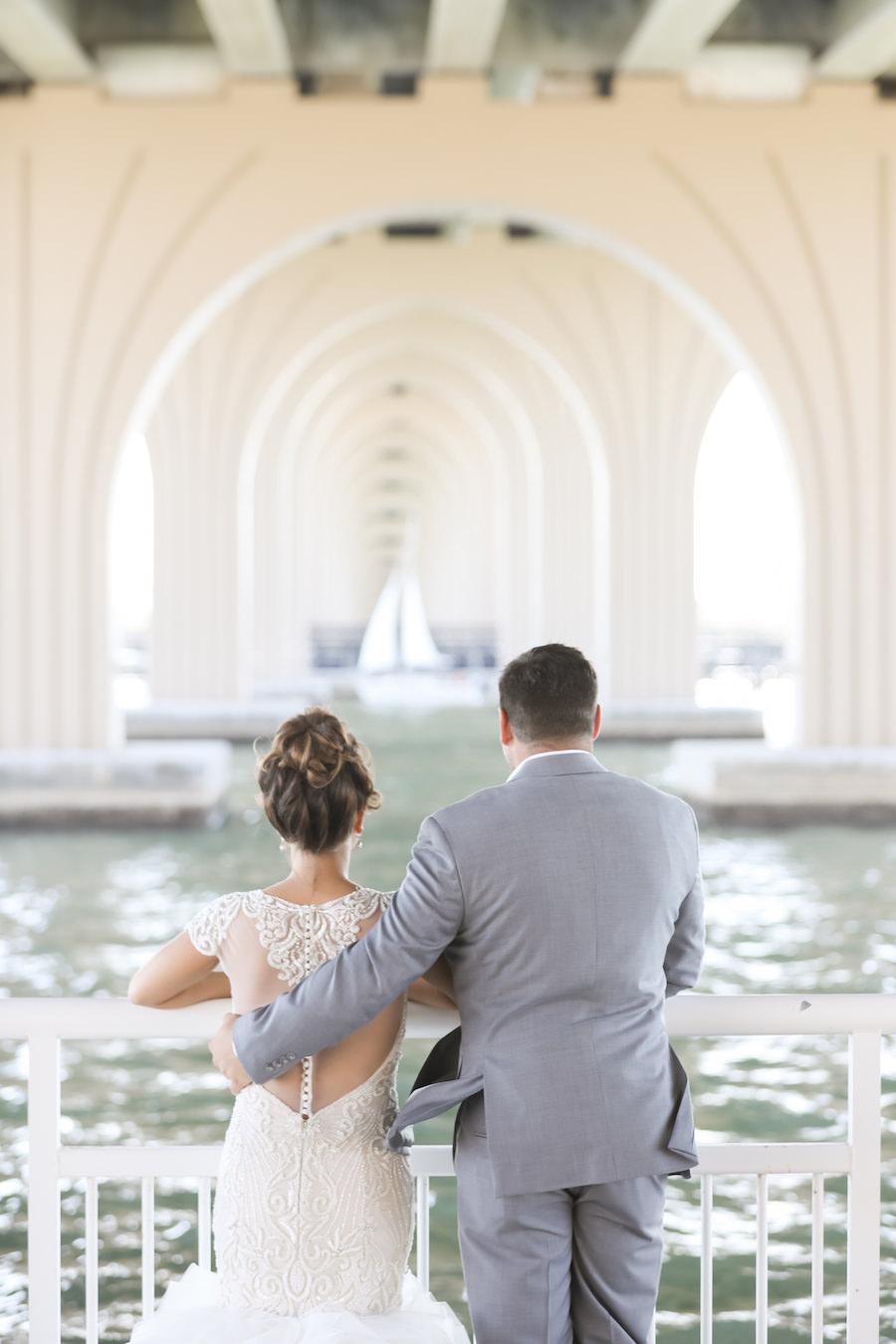 Outdoor Industrial Waterfront Wedding Portrait | Outdoor St Petersburg Wedding