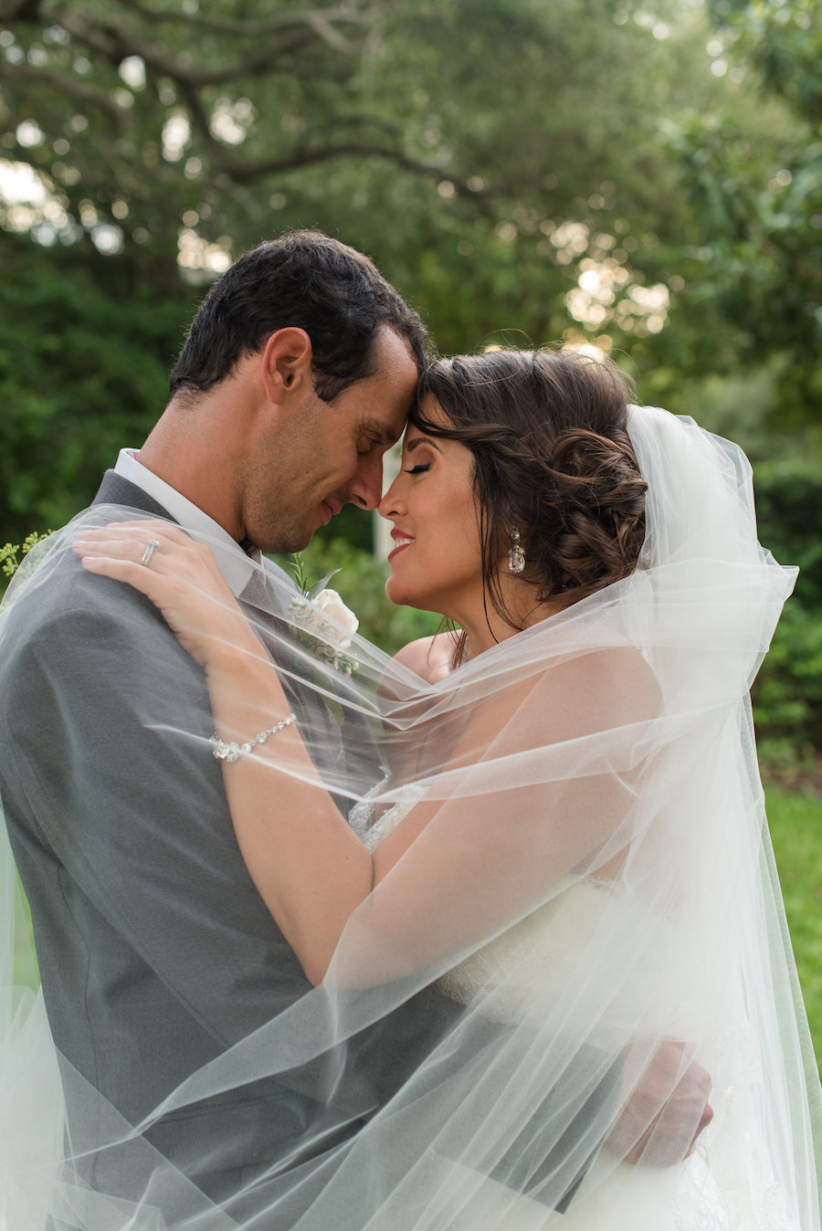 Outdoor Garden Ceremony Portrait by Tampa Bay Wedding Photographer Caroline & Evan Photography