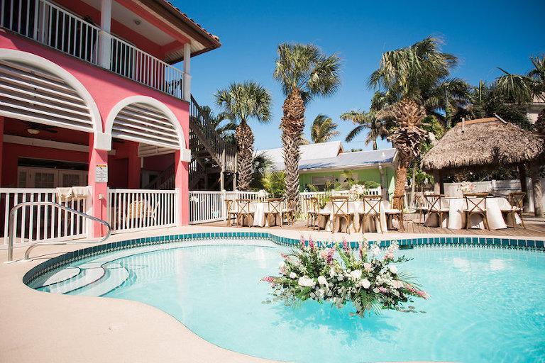 Siesta Key Tropical Poolside Reception Tropical Breeze Resort