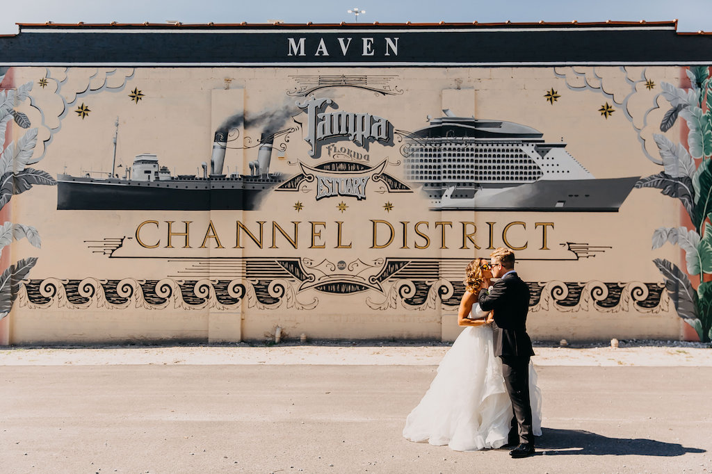 Downtown Tampa Outdoor Wedding Portrait   Photography by Rad Red Creative