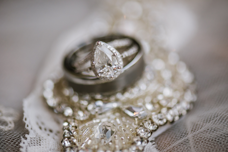 Wedding Ring with Vintage Inspired Bridal Jewelry