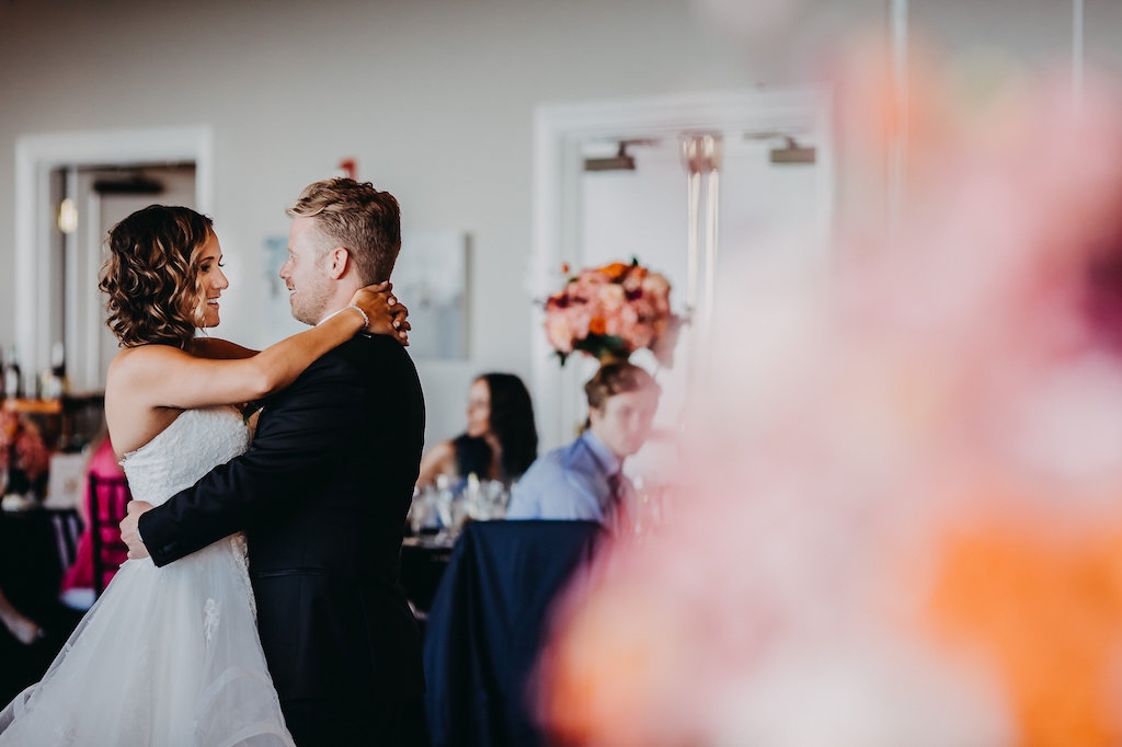First Dance Portrait by Tampa Bay Wedding Photographer Rad Red Creative   Private Wedding Venue The Centre Club