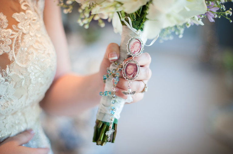 Bridal Bouquet with Memory Locket