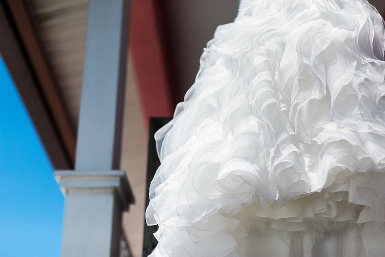 Detail of Wedding Dress | Siesta Key Tropical Wedding