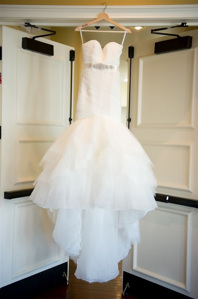 Sweetheart Jewel Belted Mermaid Wedding Dress