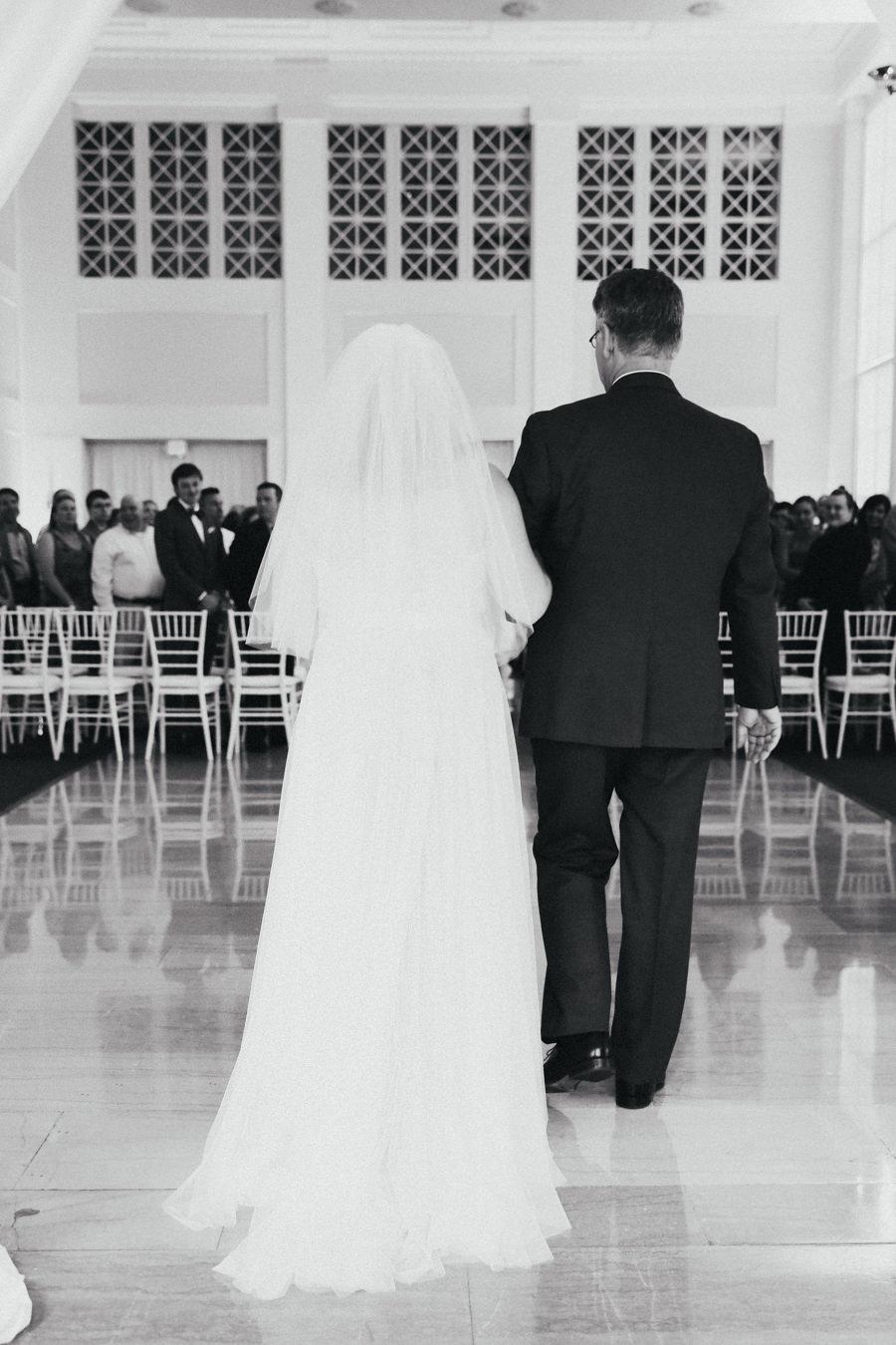 Wedding Ceremony Portrait with Traditional Veil