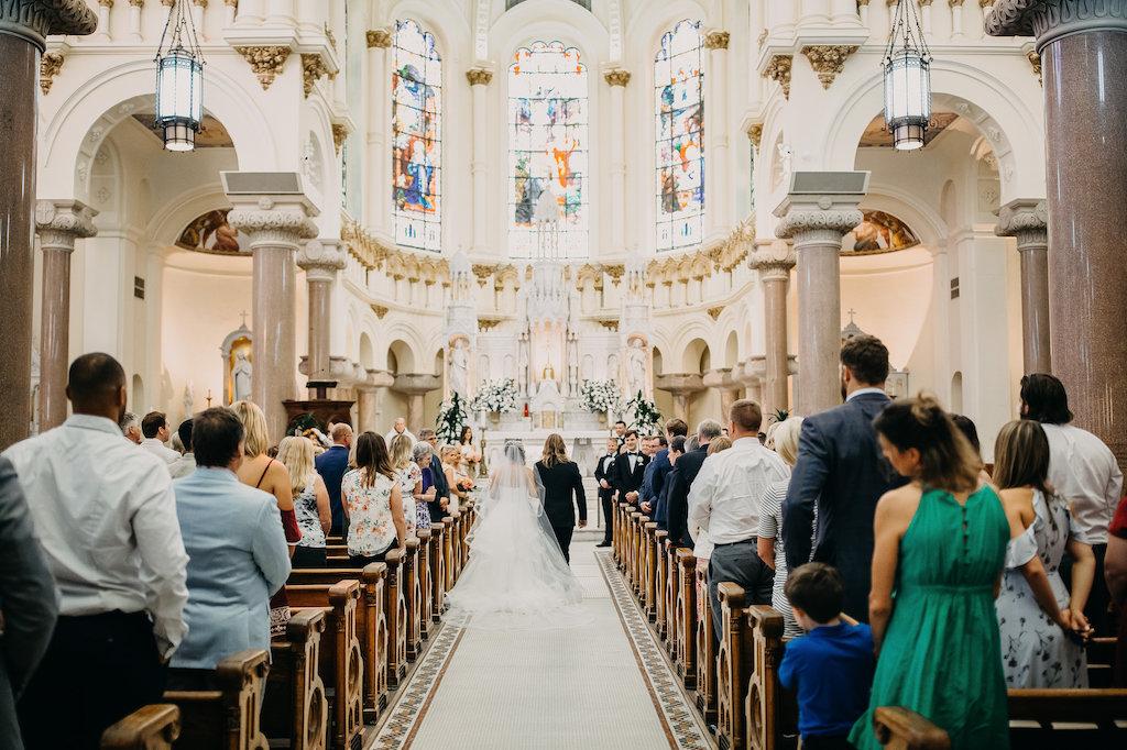 Traditional Church Wedding Ceremony Portrait   Tampa Bay Wedding Photographer Rad Red Creative