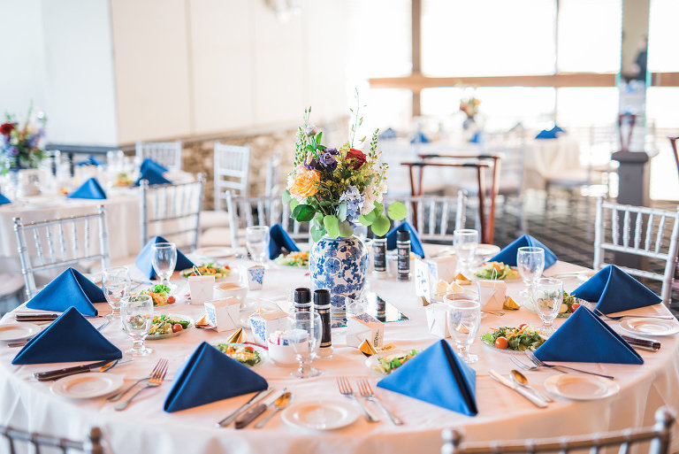 Bold Blue Orange Asian Inspired Wedding St Petersburg Country Club