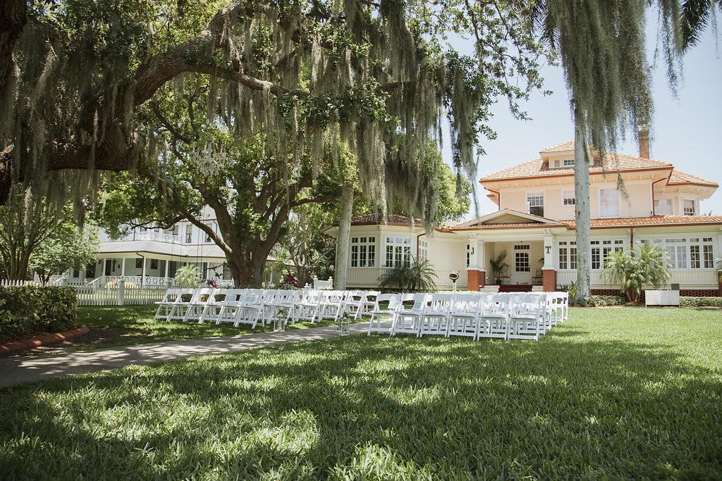 Outdoor Garden Sarasota Wedding Ceremony Venue Palmetto Riverside Bed and Breakfast | Old Florida Inspired Wedding