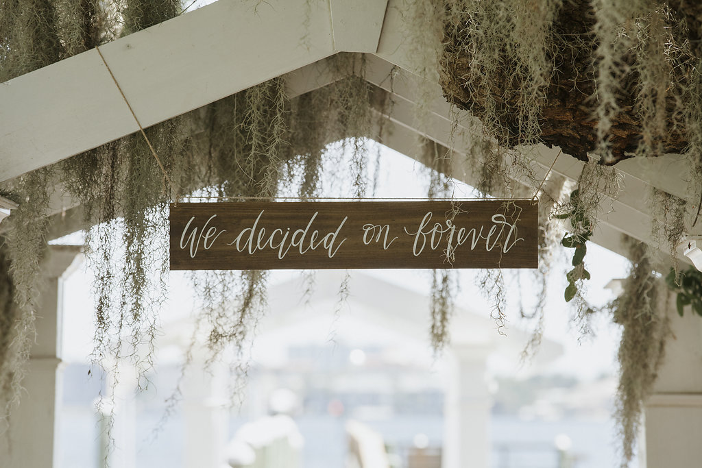 Hand-painted Rustic Wedding Ceremony Sign