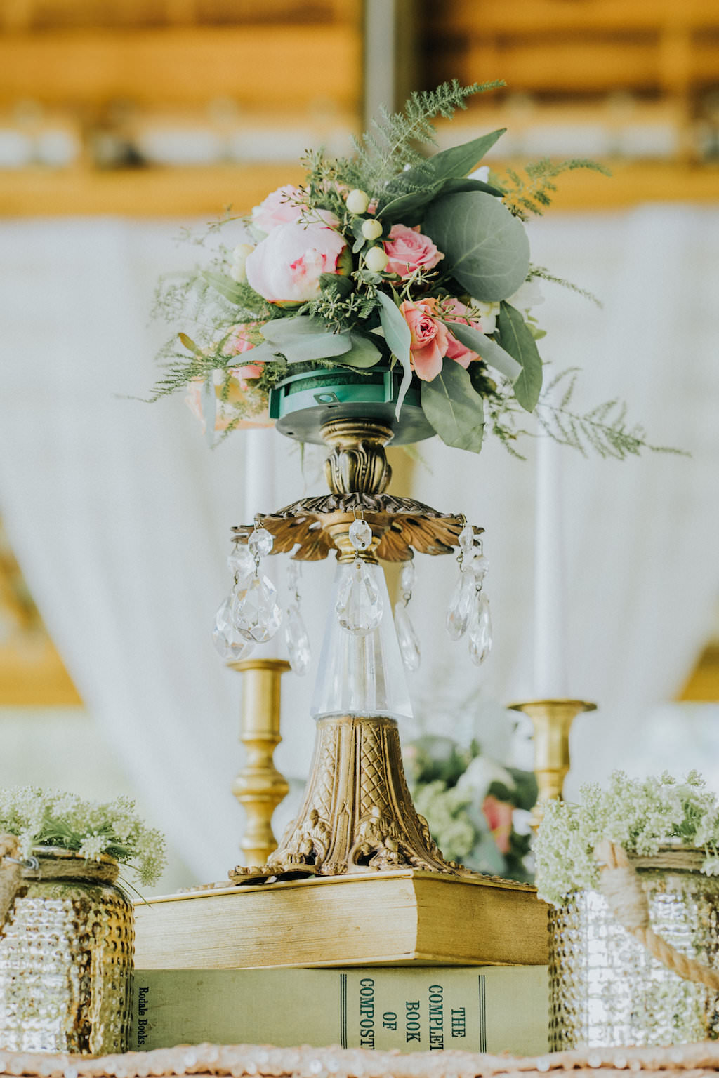 Pleasing Elegant Rustic Wedding Reception Decor With Crystal And Download Free Architecture Designs Scobabritishbridgeorg