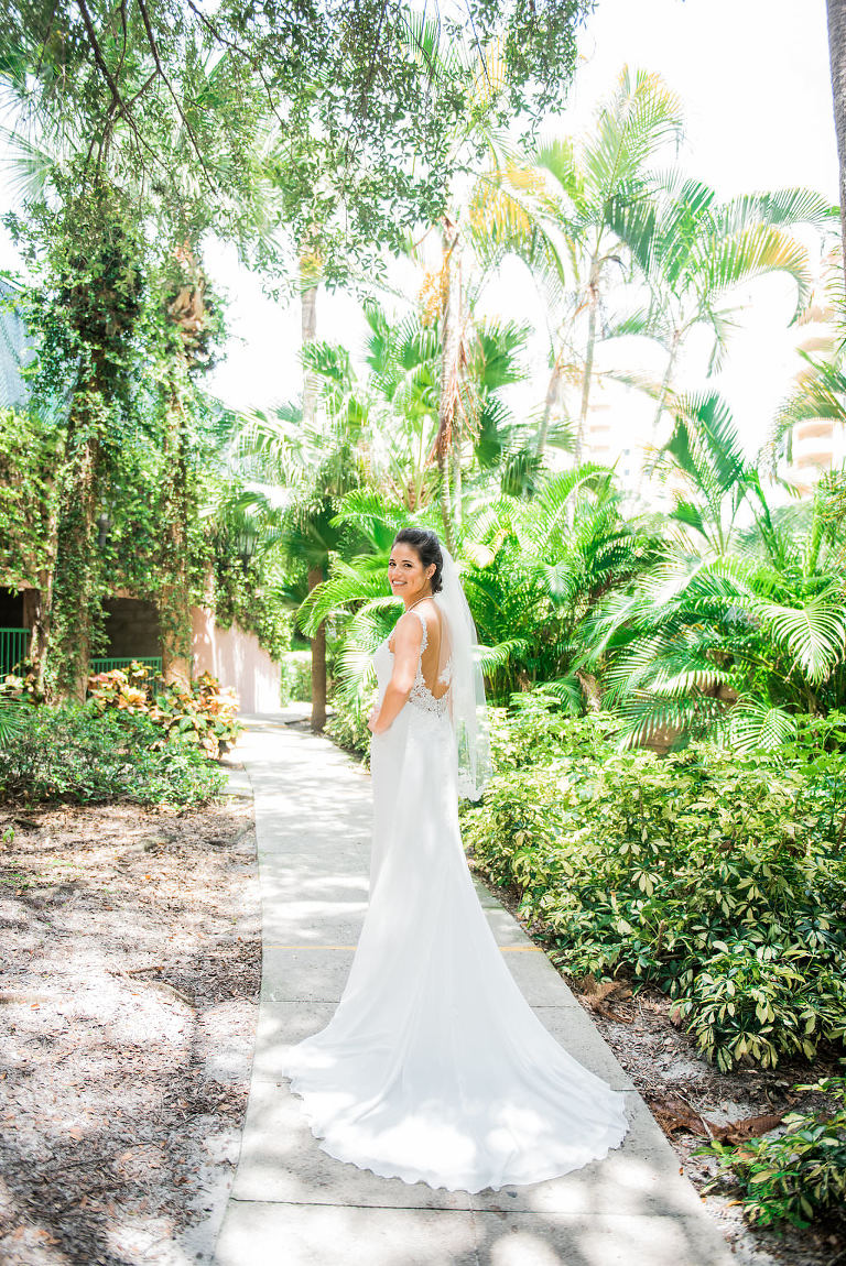 Bridal Wedding Portrait in Enzoani Dress | Tampa Bay Wedding Photographer Kera Photography
