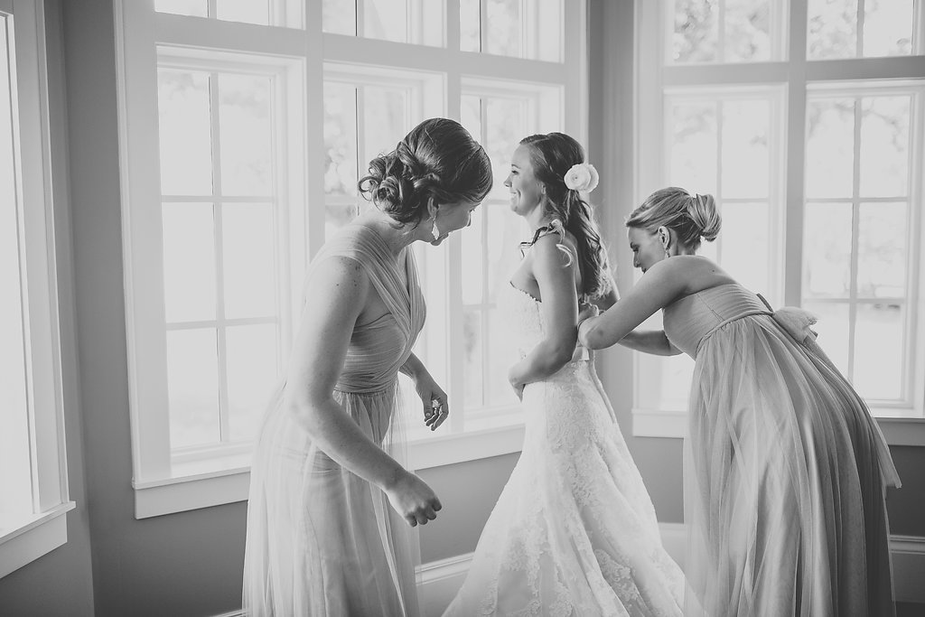 Bridal Party Getting Ready Portrait with Bridesmaids