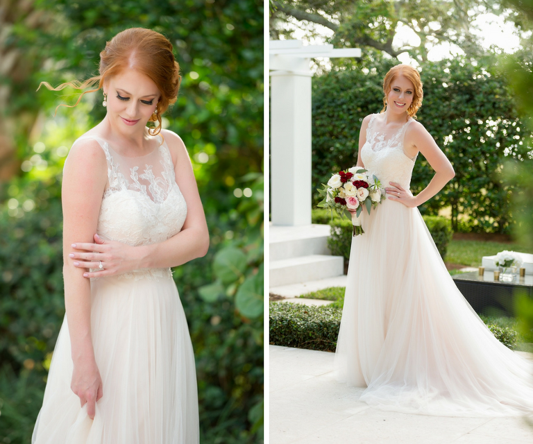 Wedding Gowns Tampa: Natural Outdoor Intimate Backyard Tampa Wedding