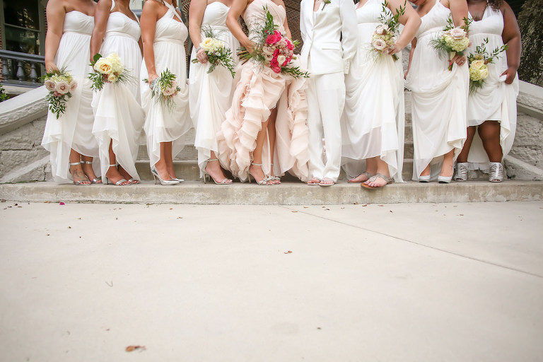 Tropical downtown tampa wedding tampa firefighter 39 s museum for Wedding dresses tampa bay area