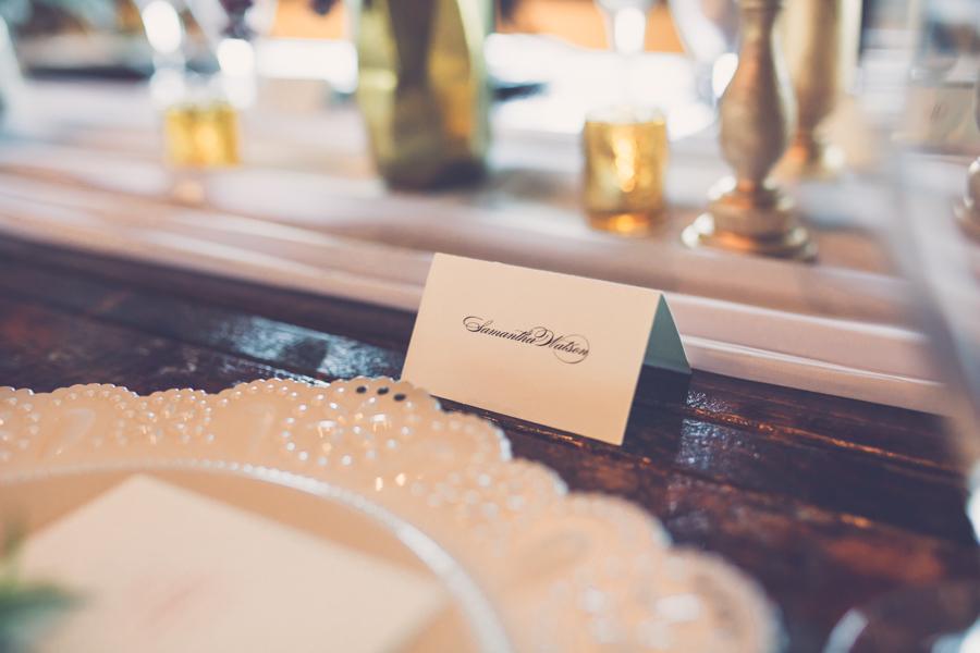 Formal Script Wedding Reception Table Place Card | Tampa Bay Wedding Paper Stationery Designer Invitation Galleria