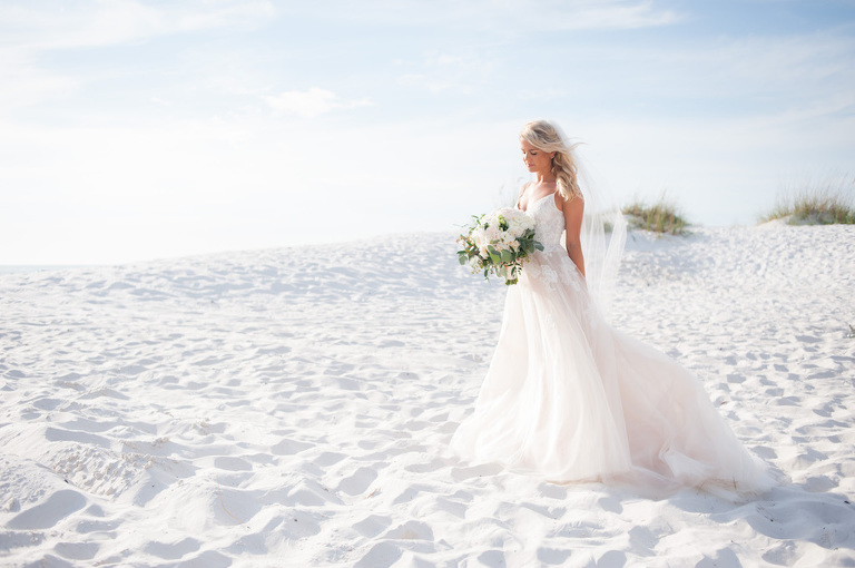 Blush White Pink Destination Florida Wedding Hilton