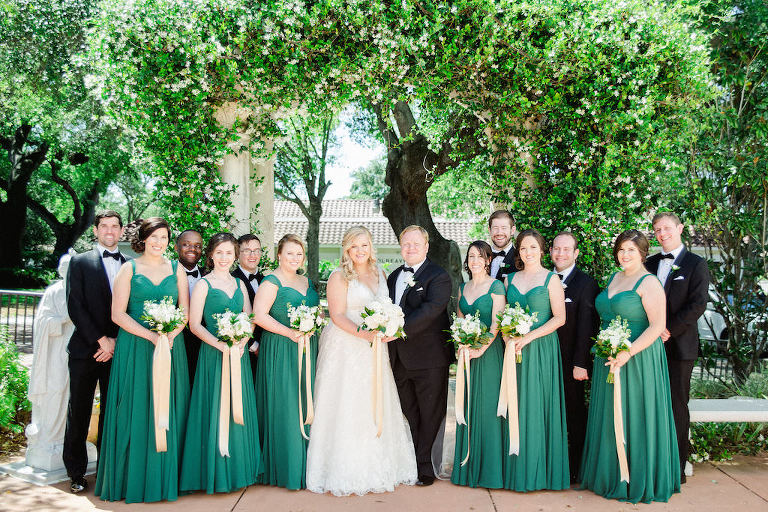 Green gold old florida inspired clearwater beach wedding for Wedding dresses tampa bay area