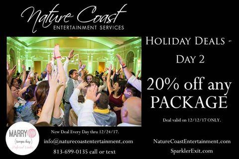 Tampa Bay Wedding DJ & Lighting Nature Coast Entertainment Services Discounts & Promos