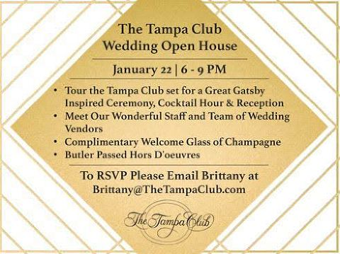 The Tampa Club Open House Marry Me Tampa Bay Local Real Wedding