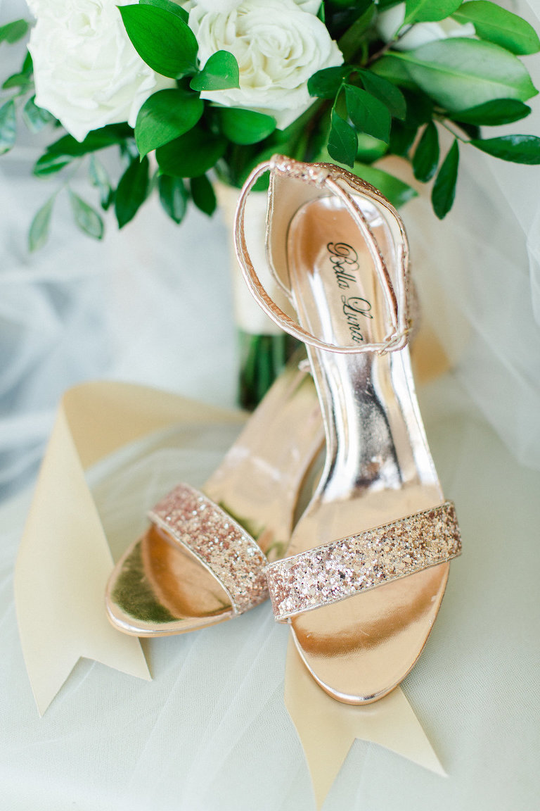 Bella Luna Gold Strappy Sandal Open Toed Wedding Shoe