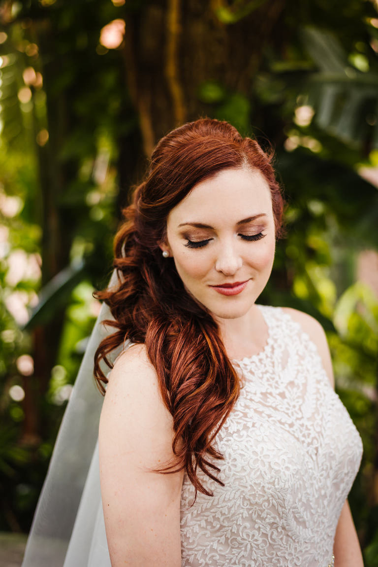 Outdoor Garden Bridal Portrait
