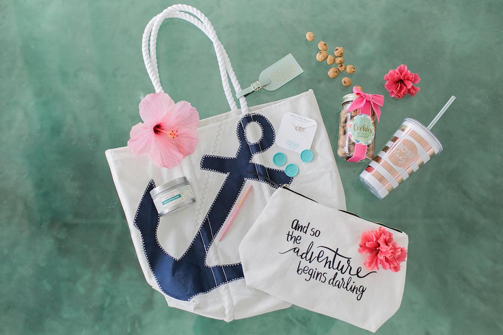 Nautical Bridal Wedding Welcome Gift Bag | Sea Bags | Alexis June Weddings