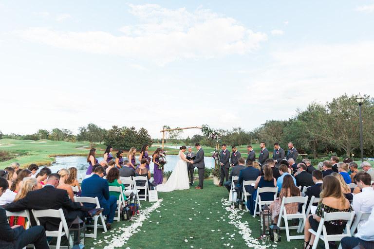 Romantic Purple White Sarasota Ballroom Wedding Lakewood