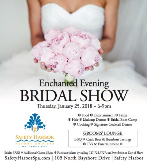Safety Harbor Resort & Spa Bridal Show, January 25, 2018, Tampa Bay Bridal Show