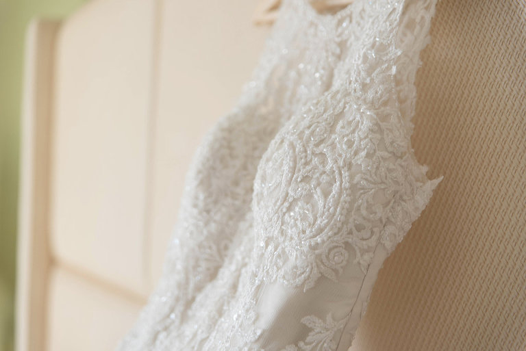 Essence of Australia Embroidered and Beaded Wedding Dress Detail