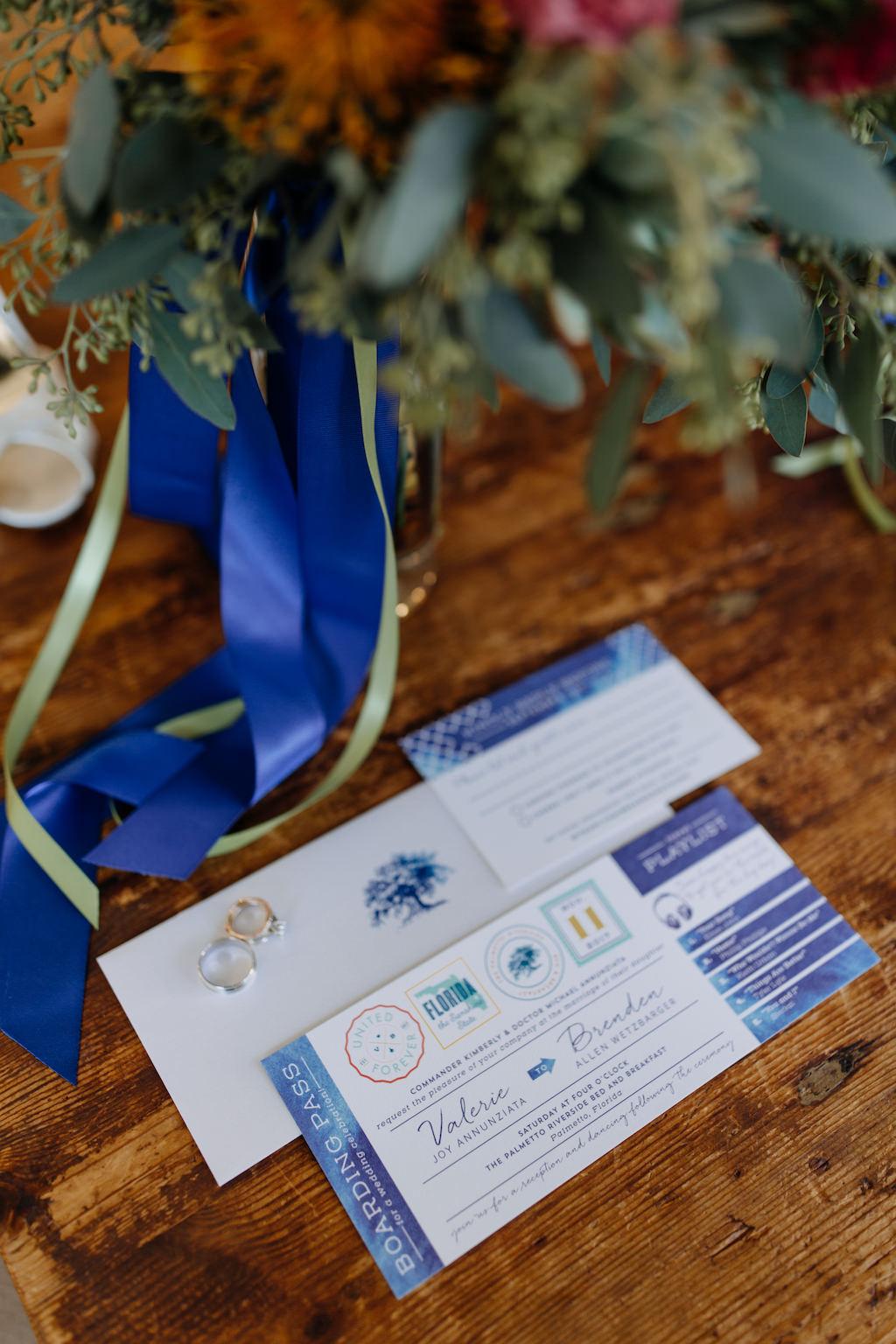 Travel Themed Wedding Boarding Pass Invitation Suite