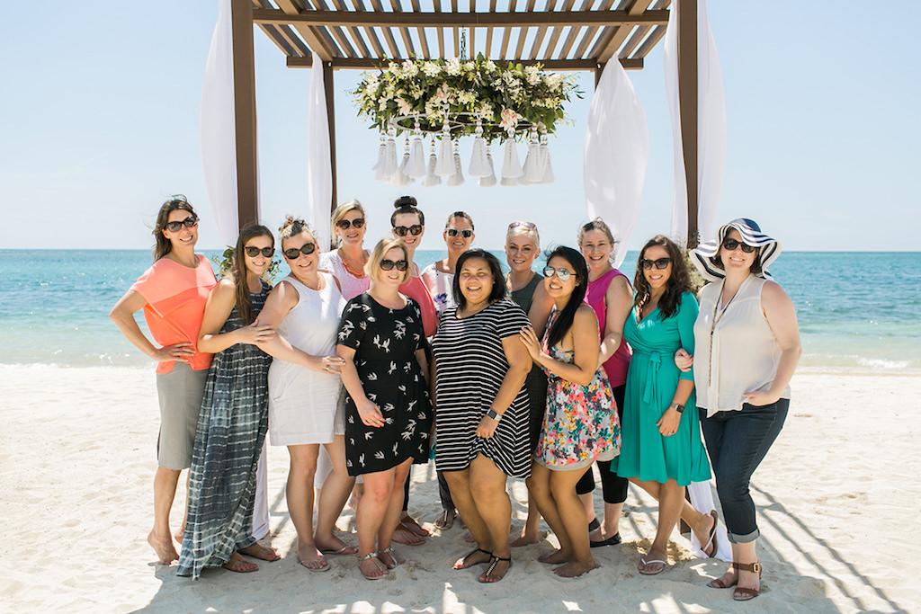 Aisle Society Wedding Blog Editors at Sandals South Coast Jamaica Destination Caribbean Beach Wedding | Alexis June Weddings