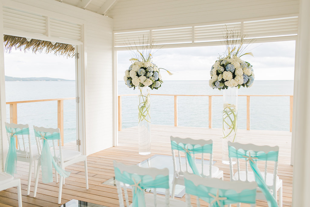 Sandals South Coast Jamaica Destination Caribbean Wedding Overwater Ceremony Chapel | Alexis June Weddings